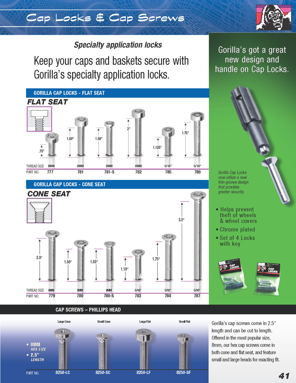 gorilla auto cap locks and cap screws